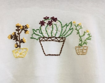Group Cacti Embroidered Relaxed Tees