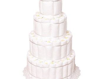 UnDecorated Diaper Cake DIY 4 layer/tier