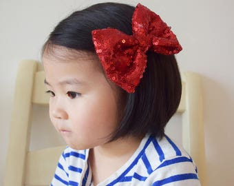 Sequins Tulle Bow Hair Clip
