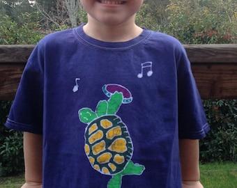 Terrapin turtle batik kids t shirt Grateful Dead