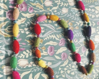 Beautiful Felt and Beaded necklace