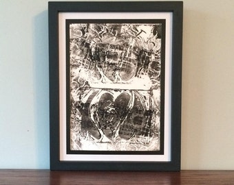 Six Hearts- Original Relief Print