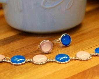 Handmade Jewellery Range - Statement Bracelet - Statement Ring - Something Blue