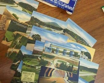 1940's Pennsylvania Turnpike Souvenir View Set
