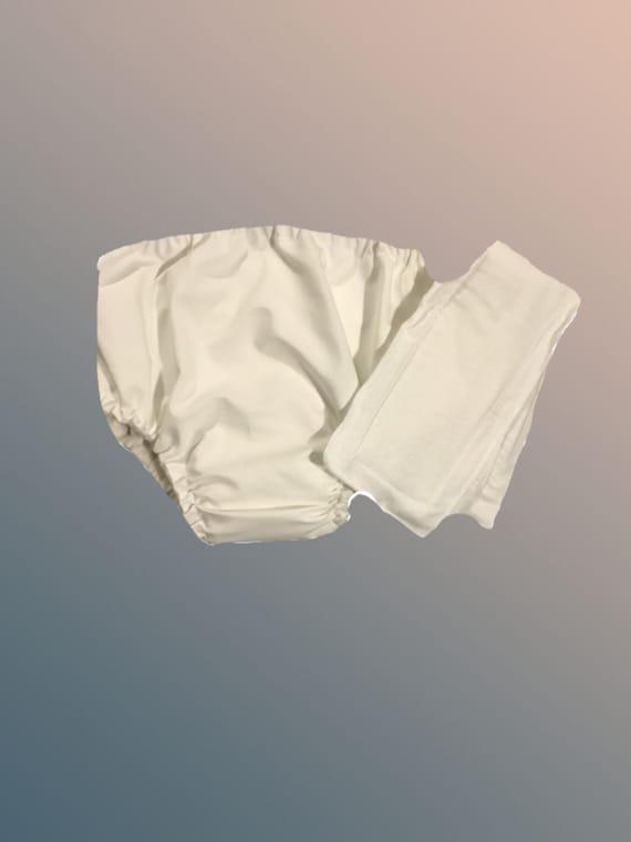 Large- Organic Cotton Lyrca Adult Waterproof Pocket Diaper