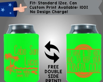 Destination To Have And To Hold And To Keep Your Cerveza Cold Collapsible Fabric Wedding Cooler Double Side Print (W56)