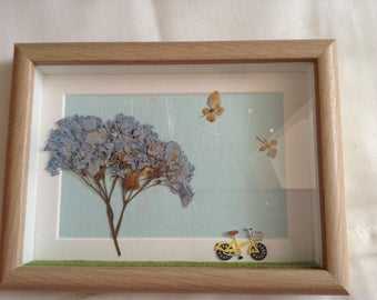 Handmade 3D Framed Wall Art, Gift, Wall decor Dried Pressed Flowers