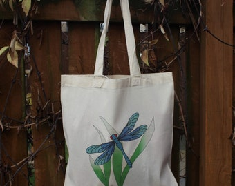 Colourful Dragonfly Design Tote Bag, Free UK P&P