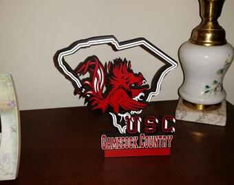 University of South Carolina Logo and State Outline