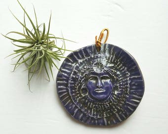 Respect Earth and Life Blue Mayan Ceramic Piece