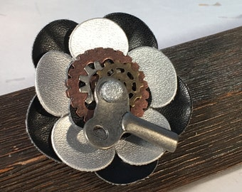 TURN ME Steampunk Pin
