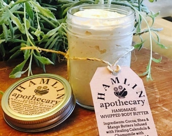 Tropical Citrus Handmade Homeopathic Whipped Body Butter