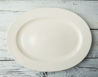 Cream Ceramic Oval Serving Plate/Platter-Food Photography Props