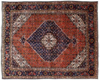 8.1' x 10.6' Ardebil Antique Persian Rug floor Oriental rug Vintage best condition Classic Area Rug, Antique rug with best condition