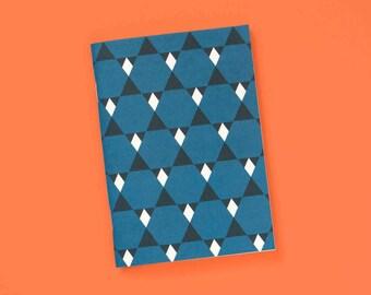 A6 note book blank geometric star