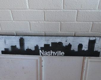 Barnwood Nashville Painted Skyline