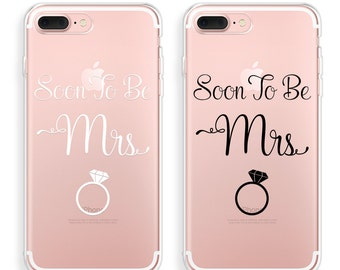 Soon To Be Mrs iPhone 7 Case, BRIDE iPhone 7 Plus Case, iPhone 8 Case, iPhone X Case, iPhone 8 Plus Case, iPhone 6s Plus Case iPhone SE Case