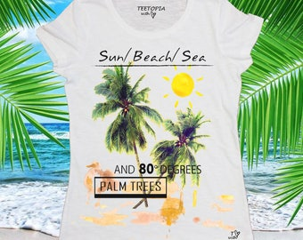 PALM TREES - t-shirt donna