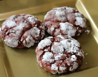 Red Velvet Crinkle Cookies - Vegan/Dairy Free