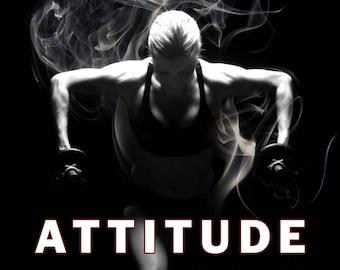 ATTITUDE, Motivational quotes, motivational poster, motivational wall decor, motivational art, inspirational quotes (JS1421)