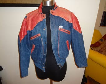 Vintage Denim and Leather Guess Jacket