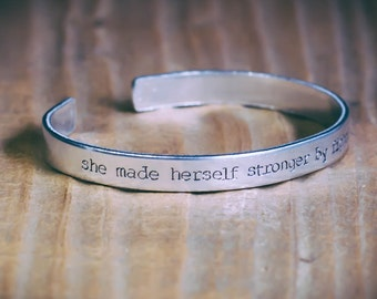 She Made Herself Stronger By Fighting With The Wind / Literary Jewelry / The Secret Garden Jewelry / Inspirational Jewelry