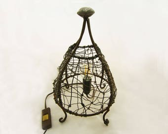 """Lamp in metal and wire """"Barbary"""""""
