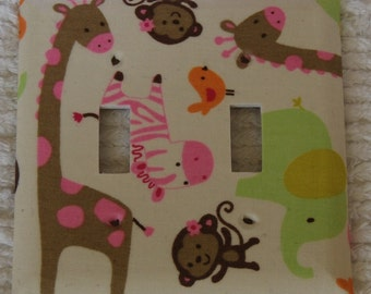 Carters jungle jill~ double switch plate