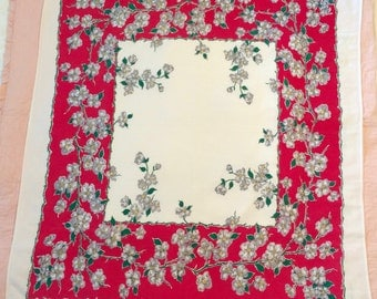 Vintage Dogwood Floral Table Cloth