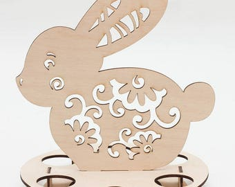 Baltic birch plywood Easter eggs stand/holder