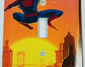 Spider-Man at Sundown Light Switch Plate