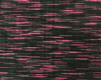 Space dye performace fabric Polyester/Spandex - Pink/Black/Grey x 50cm