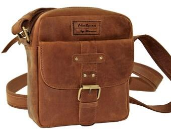 small shoulder bag perfect for holiday and everyday life, leather bag, handbag leather, Menzo, Crossbodybag, leisure bag, Messenger bag, leather
