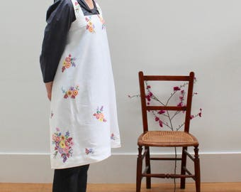 Vintage Floral fabric Japanese apron free shipping mainland Uk