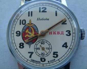 Pobeda watch, Avitor watch, soviet watch, ussr watch, military watch, mens watch, russian watch, wrist watch, retro watch