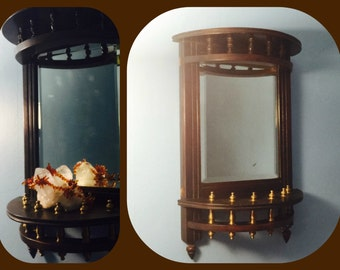 Antique Decorative Display with Mirror