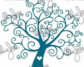 Love Tree - Cricut - Clipart - Scrapbooking - Digital Files - .svg .ai .pdf files