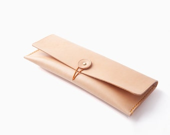 RCLAB designs, leather pencil case, pen case, pencil pouch, simple pen pouch, small Leather Brush Bag, artist pencil case, gifts