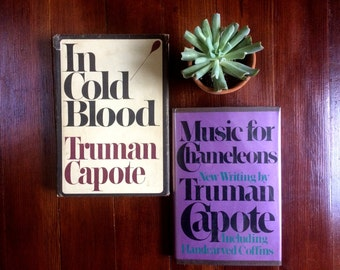 First Edition Truman Capote Set: In Cold Blood and Music for Chameleons.  Vintage Hardcovers.