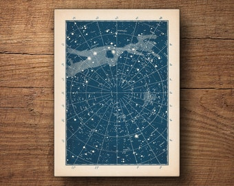 Star Chart Canvas Print, Star chart, Constellation chart, Celestial Map, Star map poster, Large Constellation Art, Astronomy Art, Galaxy art