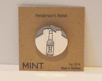 Henderson's Relish Pin Brooch - Sheffield Gifts - Hendo's Relish