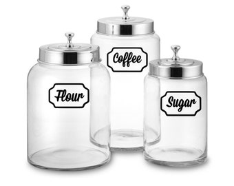 Canister Set Decals, Kitchen Decal, Canister Labels, Canister Label, Pantry Decal, Kitchen Canister Decal, Kitchen Labels, Home Organization