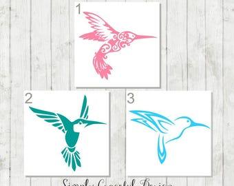 Humming Bird Decal - Humming Bird Sticker - Gift for Bird Lovers - Humming Bird Car Decal- Bird Decal - Bird Laptop Decal - Humming Bird
