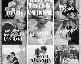 Overlays | Valentine's Day Typography | Black & White Text