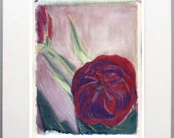 Tulip Polaroid Transfer 8x10 Print