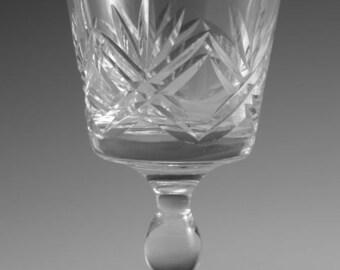 "Thomas WEBB Crystal - LONDON Cut - Claret Wine Glass / Glasses - 4 1/4"" (2nd)"