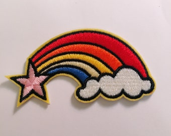 G/rainbow/stars/free shipping iron on patch /embrodery patch