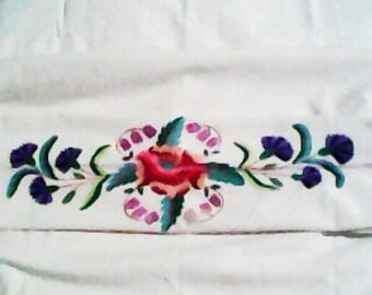 Embroidered pillowcase, pillow, hand made, bed, home, vintage, bedding,decor, embroidered pillowcase ideas, embroidered pillowcase designs