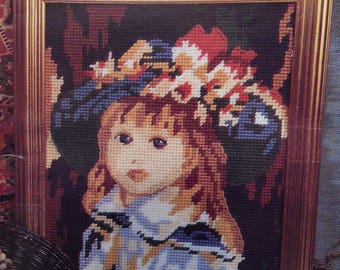 The Glorafilia Needlepoint Collection - FLORAL HAT - GL485 16 x 14 cms Produced in Year 1993