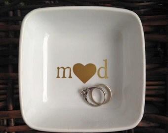 Initial Ring Dish|Wedding Gift Ring Dish|Bridal Shower Gift|Newlywed Ring Dish|Valentines Day Gift